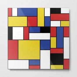 Mondrian Geometric Art Metal Print