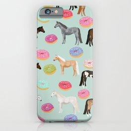 Horses Donuts - horse, donut, pastel, food, horse blanket, horse bedding, dorm, cute design iPhone Case