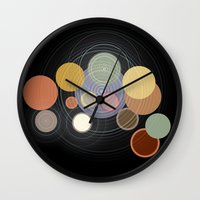drums Wall Clocks featuring drums by WilliamBee
