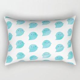 Kawaii Watercolour Ghosts (Ocean) Rectangular Pillow