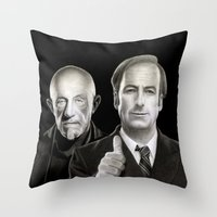 better call saul Throw Pillows featuring Better call Saul by Giampaolo Casarini