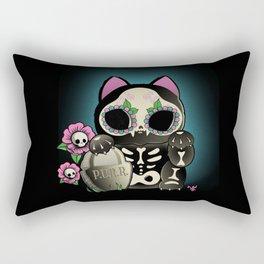 Lucky Cat De los Muertos Rectangular Pillow