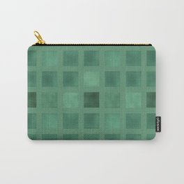 Colorful geometric pattern grunge Tile . Green emerald color . Carry-All Pouch
