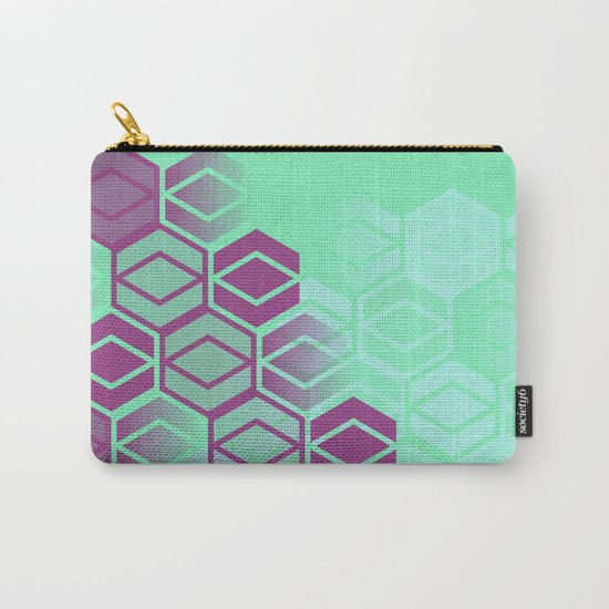 Purple on Mint Carry-All Pouch