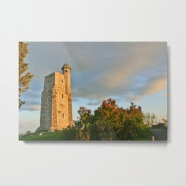 All along the The Smiley Tower Metal Print