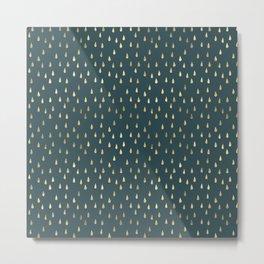 Gold drops Elegant minimalist Pattern Metal Print