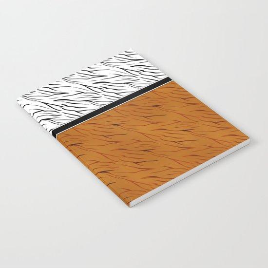 Yellow black tiger pattern . Notebook