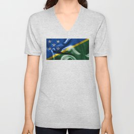 Solomon Islands Flag Unisex V-Neck