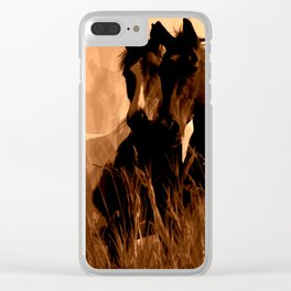Horse Spirits Clear iPhone Case