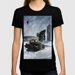 An old truck in snow T-shirt