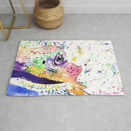Bearded Dragon in full colour Rug