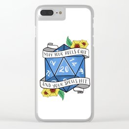 May Your Rolls Crit and Your Spells Hit Clear iPhone Case