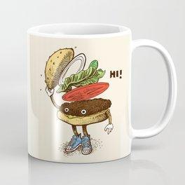Burger Greeting Coffee Mug