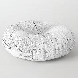 Minimal City Maps - Map Of Scottsdale, Arizona, United States Floor Pillow