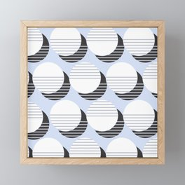 Simple Circle Pattern Framed Mini Art Print
