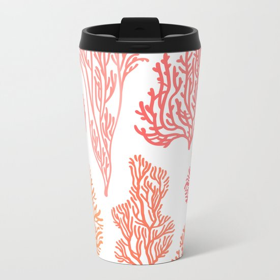 Coral Mania Metal Travel Mug