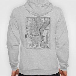 Vintage Map of Milwaukee Wisconsin (1891) BW Hoody