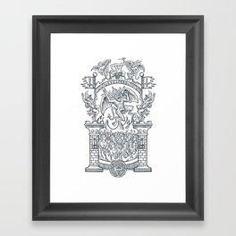 Satanic Rock Framed Art Print