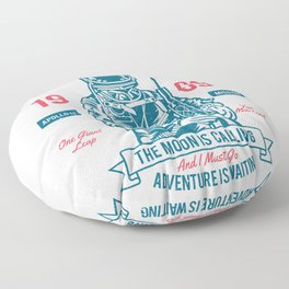 Outer space Adventure - Born to be an astronaut Floor Pillow