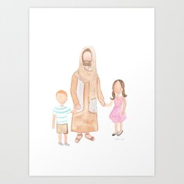 Jesus with Children Art Print