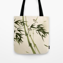 Oriental style painting, bamboo branches Tote Bag
