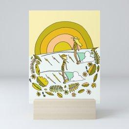 summer time daydreams surf till sunset // retro surf art by surfy birdy Mini Art Print