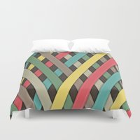 striped Duvet Covers featuring Striped by General Design Studio