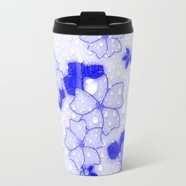 Floral Design EMMY blue Travel Mug