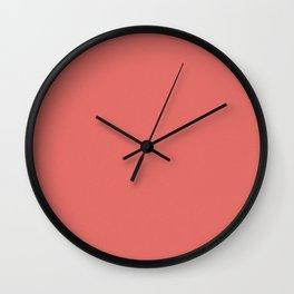 Pastel Red Saturated Pixel Dust Wall Clock