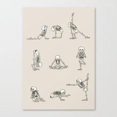 Skeleton Yoga Canvas Print