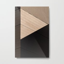 minimalistic facade of a building, shadows and geometric shapes Metal Print