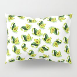 Green Avocado Pattern Pillow Sham