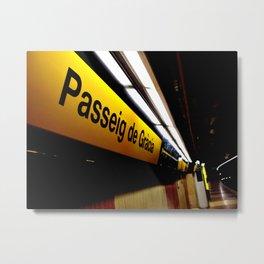 Barcelona Metro Metal Print