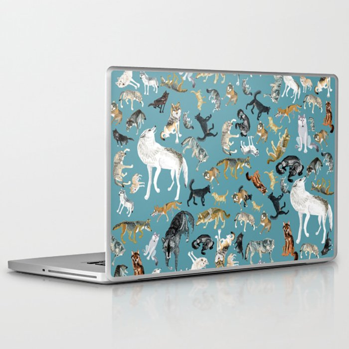 Wolves of the World pattern 2 Laptop & iPad Skin
