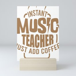 Music Teacher Choir Teacher Tudor Gift Mini Art Print
