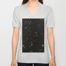 Hubble Space Telescope Field of Galaxies Unisex V-Neck