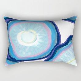 Blue agate pattern Rectangular Pillow