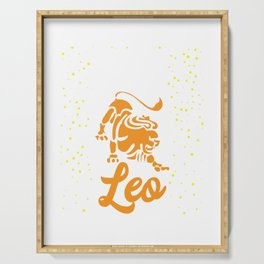 Leo Lion Zodiac Horoscope Astrology Birthday Serving Tray