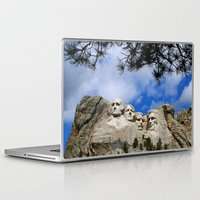 rushmore Laptop & iPad Skins featuring Mount Rushmore by Christiane W. Schulze Art and Photograph