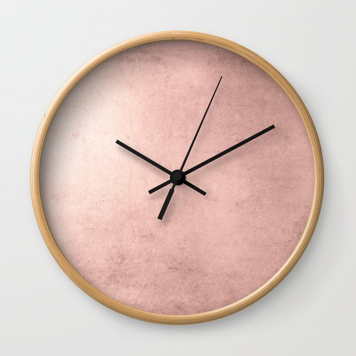 Blush Rose Gold Ombre Wall Clock