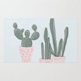 Soft Pastel Cacti Design Rug