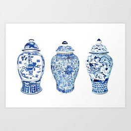 GINGER JAR TRIO Art Print