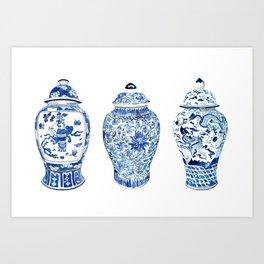 GINGER JAR TRIO Art Print