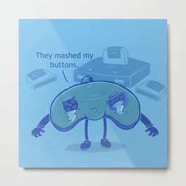 Button Mashing: Victim-less Crime? Metal Print