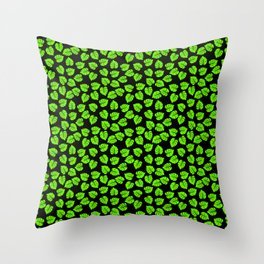 Giant  Neon Green Monstera Tropical Jungle Leaves Throw Pillow