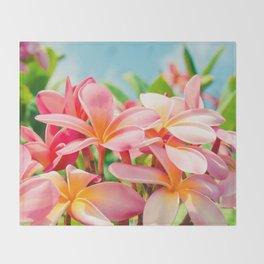 Pua Melia ke Aloha Maui Throw Blanket