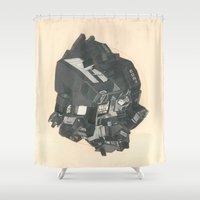 transformer Shower Curtains featuring Robot Stylus by Morgan Jesse Lappin