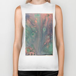 Peacock Colors Biker Tank