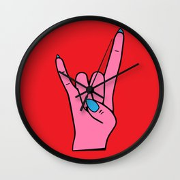 The Horns - Rock On Wall Clock
