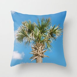 """Happy Palm"" Throw Pillow"